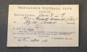 Sir F W Moore match 1878