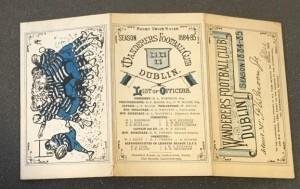 Sir F W Moore membership book 1884 to 85